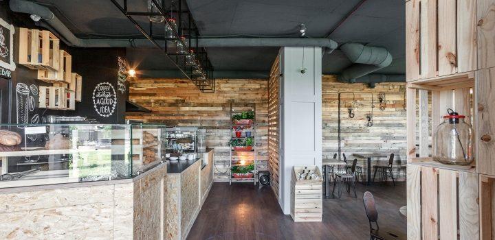 Thiết kế quán cafe giá rẻ tại Gia Lâm