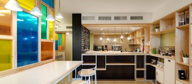 Thiết kế quán cafe nhỏ 6A.M chị Linh - Cầu Giấy