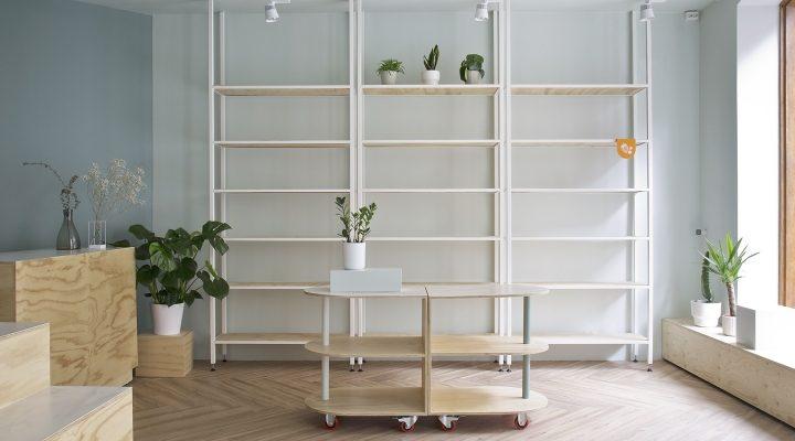 Thiết kế nội thất shop bán sản phẩm hữu cơ Green - Đông Anh, Hà Nội