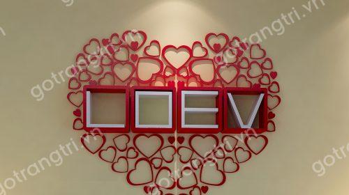 Những mẫu DECOR ấn tượng của bộ Kệ gỗ chữ Love