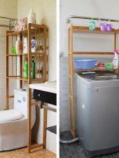 Giá kệ gỗ để đồ trong nhà tắm tiện dụng GHS-603