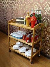 Kệ gỗ 3 tầng để dụng cụ phòng bếp GHS-624.
