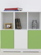 Tủ gỗ thiết kế ngăn tủ màu sắc độc đáo GHS-541