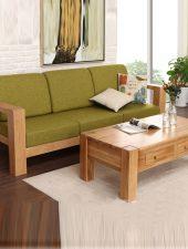 Sofa văn Gỗ tự nhiên, Sofa văng Nỉ GHS-844