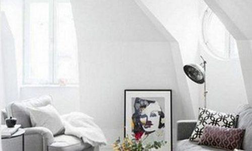 Phòng khách màu trắng đẹp hiện đại, thanh lịch.
