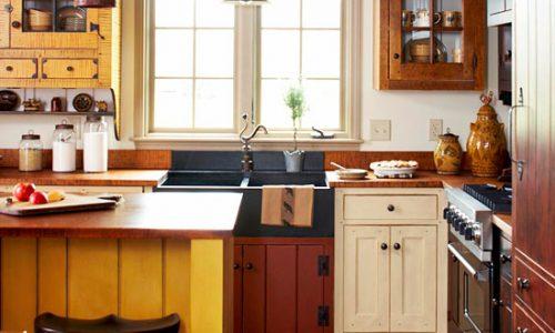 Nội thất phòng bếp, phòng ăn nhỏ xinh xắn.