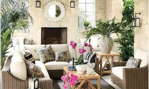 Tạo không gian xanh cho phòng khách.