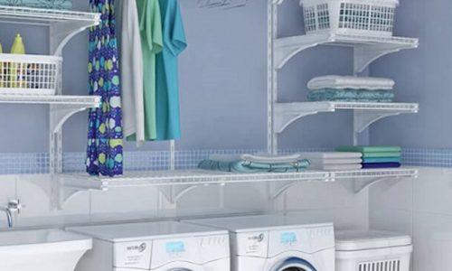 Tạo không gian lưu cho phòng giặt nhà bạn.