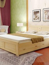 Giường gỗ tự nhiên, Giường Gỗ sồi GHS-923