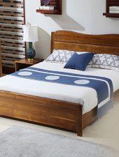Giường gỗ phong cách cổ điển GHS-948