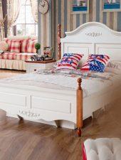 Giường ngủ Gỗ phong cách Bắc Âu GHS-943