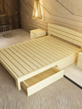 Giường Gỗ thông, Giường gỗ tự nhiên GHS-914