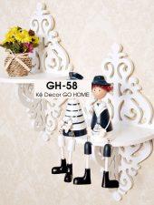 Kệ gỗ treo tường, Kệ gỗ hoa văn GH-58