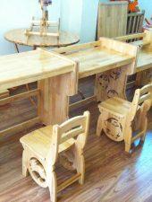 Ghế gỗ tự nhiên, ghế ngồi học cho bé GHS-6113