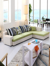 Sofa góc L phong cách hiện đại, Sofa Nỉ GHS-858