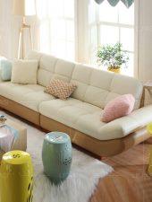 Bộ sofa Da phòng khách hiện đại GHS-8103