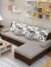 Sofa góc L phong cách hiện đại, Sofa Nỉ GHS-853