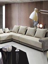 Sofa Nỉ, Sofa góc L phong cách hiện đại GHS-856