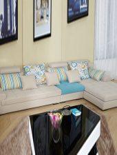 Sofa góc L hiện đại, Sofa Nỉ GHS-859