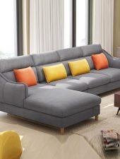 Sofa văng Nỉ, Sofa phong cách Bắc Âu GHS-884