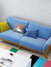 Bộ Sofa 2 món gỗ sồi Nỉ nhập khẩu GHS-8106