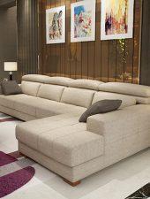 Sofa Nỉ góc L phòng khách GHS-8105