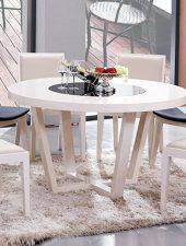 Bộ bàn tròn gỗ tự nhiên 4 ghế GHS-4175