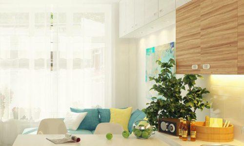 Thiết kế căn hộ với màu pastel dịu nhẹ