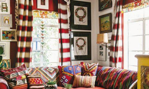Trang trí phòng khách theo phòng khách Bohemian