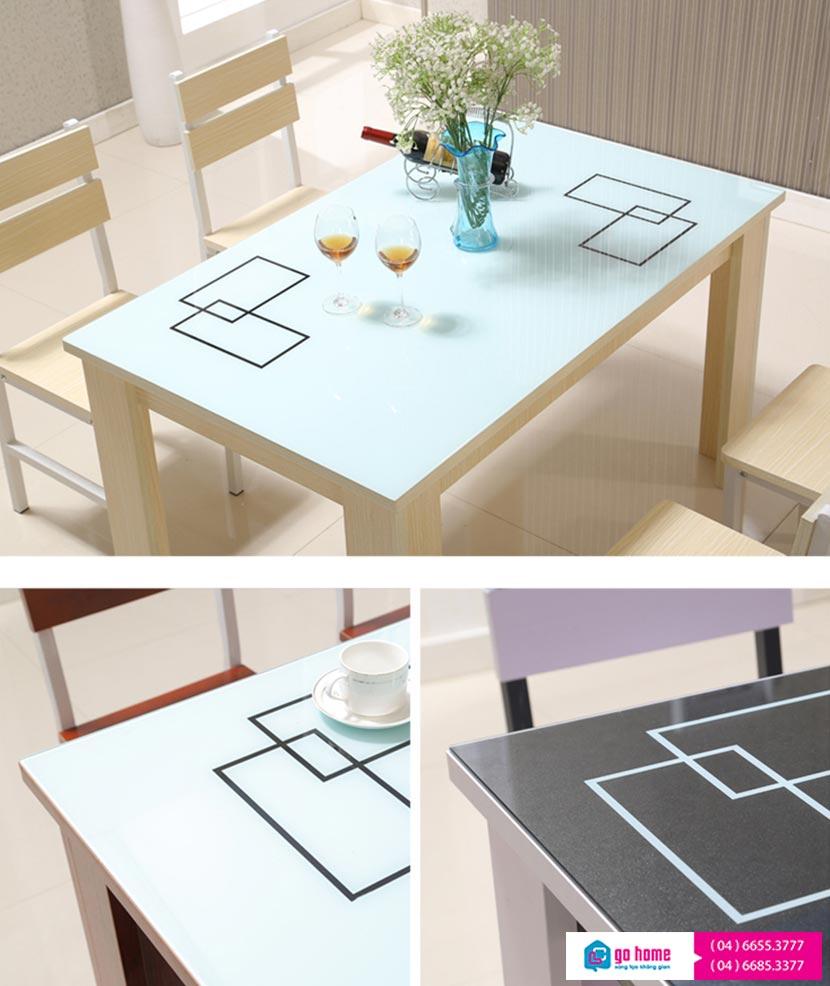 Bộ bàn ăn hiện đại gỗ công nghiệp giá rẻ GHS-4310 (bộ 4 ghế)