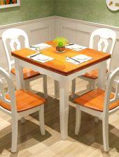 Bộ bàn ăn hiện đại gỗ sồi tự nhiên GHS-4318