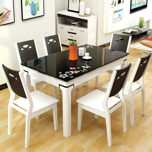Bàn ghế ăn đẹp phong cách hiện đại GHS-4331 (gỗ sồi tự nhiên)