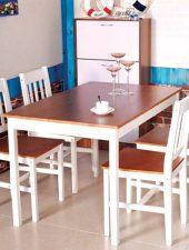 Bàn ghế ăn đẹp gỗ tự nhiên GHS-4340