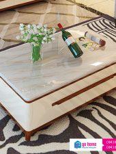 Bàn trà gỗ phòng khách mặt đá gỗ công nghiệp GSH-4293