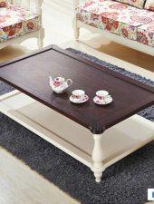 Bàn trà phòng khách gỗ tự nhiên Bắc âu GHS-4308