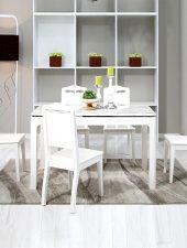 Bộ bàn ăn hiện đại mặt đá cẩm thạch GHS-4314