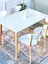 Bộ bàn ăn 4 ghế gỗ sồi tự nhiên GHS-4327