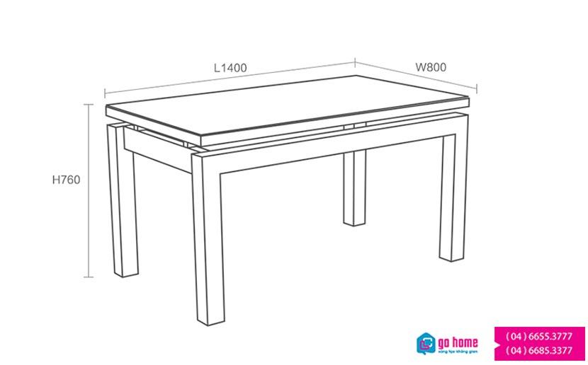 Hướng dẫn dùng : Bàn ghế ăndùng trong không gian phòng ăn gồm 1 bàn + 4 ghế tựa