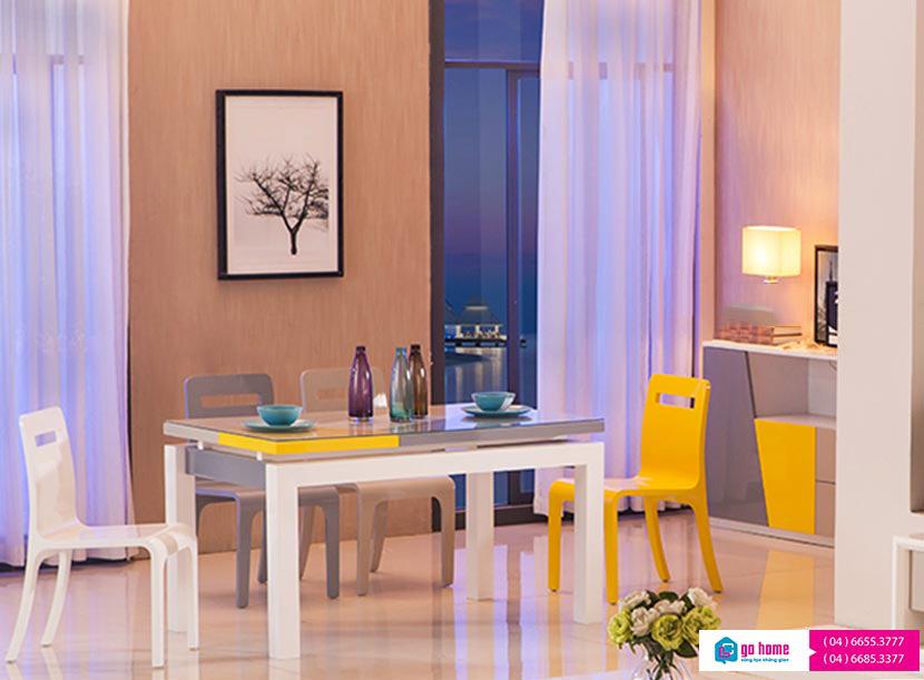 Bộ bàn ăn đẹp hiện đại nhiều màu sắc GHS-4309