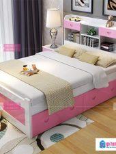 Mẫu giường ngủ đẹp gỗ tự nhiên GHS-973