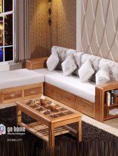 Sofa gỗ hiện đại, sofa góc L cao cấp GHS-8126