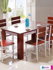 Bộ bàn ăn hiện đại gỗ công nghiệp giá rẻ GHS-4310