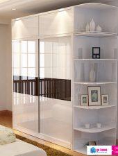 Tủ đựng quần áo cửa lùa gỗ phun sơn GHS-5191