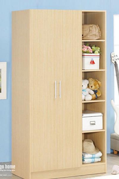 tủ gỗ giá rẻ Tủ gỗ quần áo giá rẻ liền giá sách GHS 5172 tủ gỗ giá rẻ