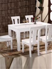 Bàn ghế ăn đẹp gỗ sồi cao cấp GHS-4348