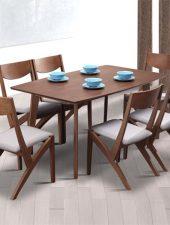 Bàn ghế ăn đẹp gỗ tự nhiên GHS-4355
