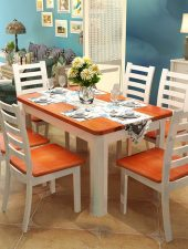 Bàn ghế ăn đẹp bằng gỗ tự nhiên GHS-4357