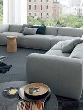 Bàn ghế sofa giá rẻ góc L lớn GHS-8227