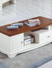 Bàn trà gỗ tự nhiên phòng khách GHS-4384