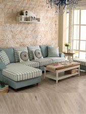 Bộ ghế sofa góc L bọc nỉ đẹp GHS-8179